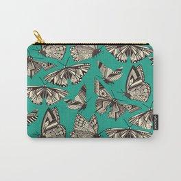summer butterflies teal Carry-All Pouch