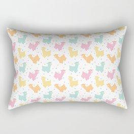 Pastel Kawaii Llamas Rectangular Pillow
