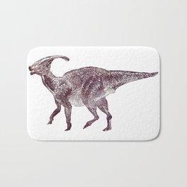 Parasaurolophus dinosaur Bath Mat