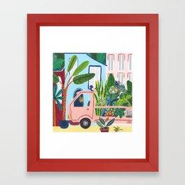 Jungle Delivery Framed Art Print