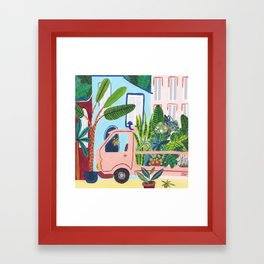 Jungle Delivery Framed Art Print