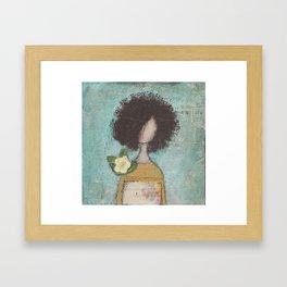 One day she Framed Art Print