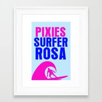 pixies Framed Art Prints featuring Surfer Rosa - Pixies / LP Cover Art Poster by FunnyFaceArt