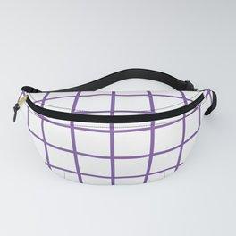 Purple Grid Pattern Fanny Pack