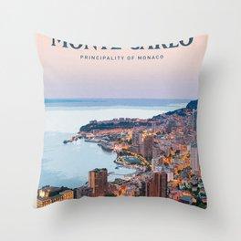 Visit Monte Carlo Throw Pillow