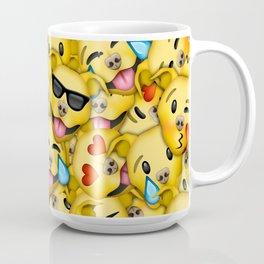Pitbull Pattern Yellow Coffee Mug