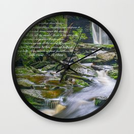 Lao Tsu Quote Zen Waterfall Print Wall Clock
