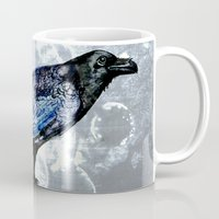 raven Mugs featuring Raven by Dominique Gwerder