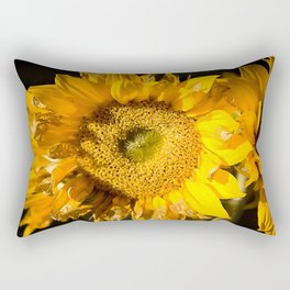 sunkissed sunflower Rectangular Pillow