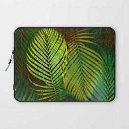 TROPICAL GREENERY LEAVES Laptop Sleeve