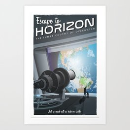 Horizon Lunary Colony Travel Poster Art Print