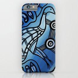 Authentic Aboriginal Art - Emu iPhone Case