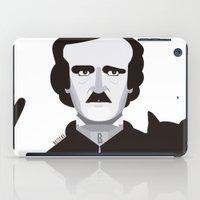 edgar allan poe iPad Cases featuring Edgar Allan Poe  by Beitebe