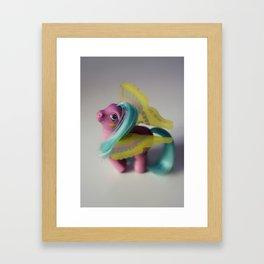 Fly pony Framed Art Print