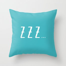 sleep time Throw Pillow