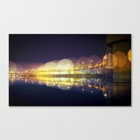 portland Canvas Prints featuring Portland by dibec