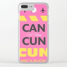 CANCUN CUN airport tag sticker design Clear iPhone Case