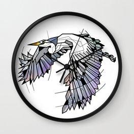 Heron Geometric Bird Wall Clock