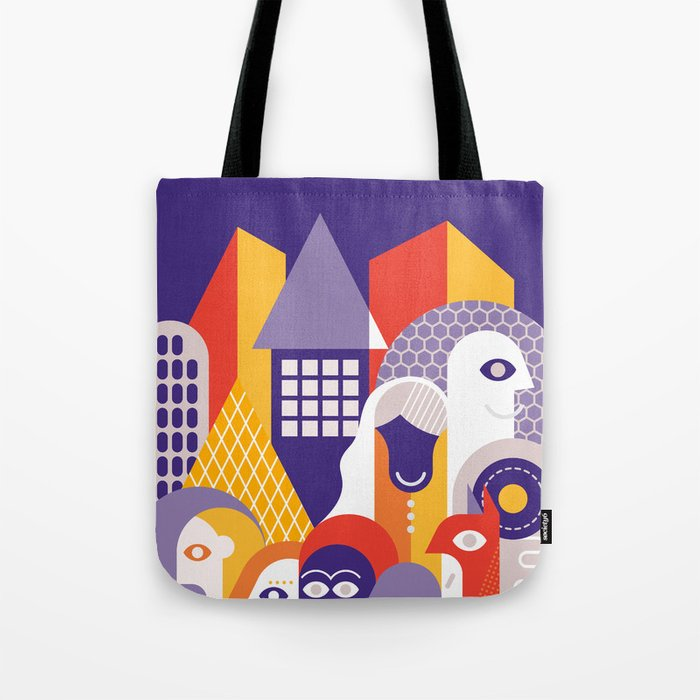 People on the Street Tote Bag