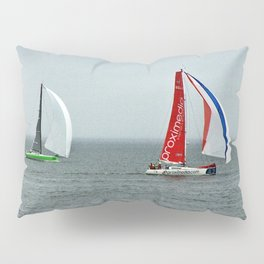 part 4 of 4 of Sailing Battle 42-56  - Transat Quebec St-Malo Pillow Sham