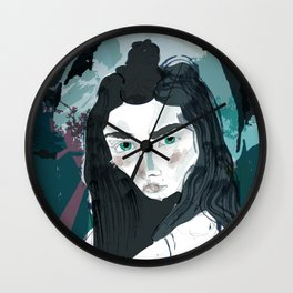 Blue Girl/Cold Shoulder Wall Clock