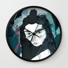 Blue Girl/Cold Shoulder Wall Clock