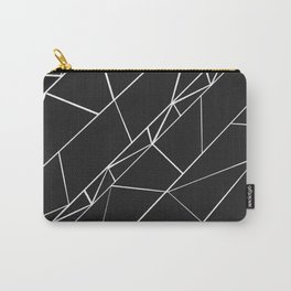 Hand drawn geometrical black white triangles Carry-All Pouch