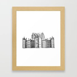 huge castle Framed Art Print