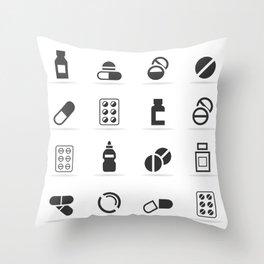 Tablet an icon Throw Pillow