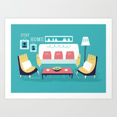 :::Minimal living room::: Art Print