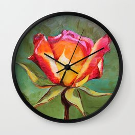 """Lonely Rose #1"" Wall Clock"