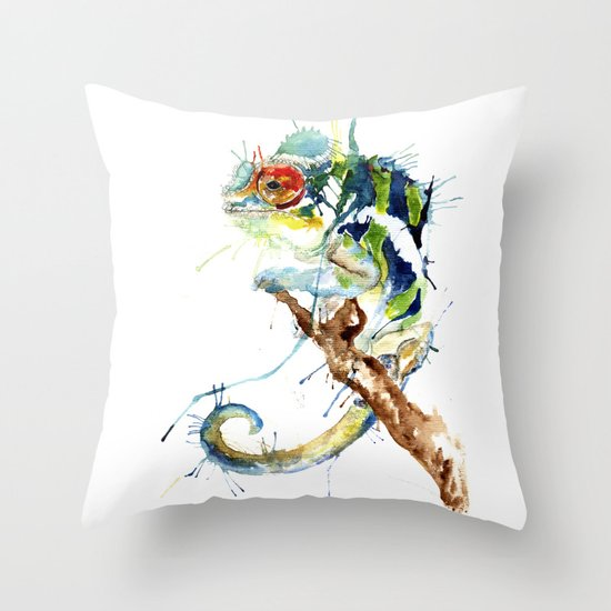 My Chameleon Throw Pillow