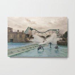 Europa Splash Metal Print