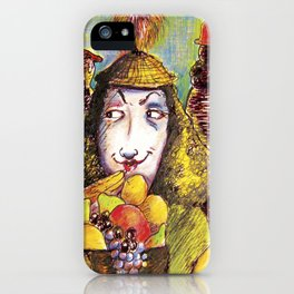 Fruit Hats and Feathers iPhone Case