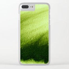 Indefinite Green Clear iPhone Case