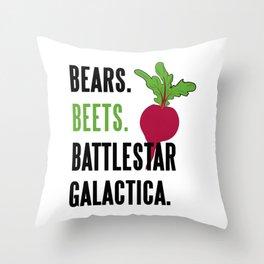 Bears Beets Battlestar Galactica Funny Throw Pillow