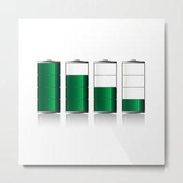Battery Charge Indicator Metal Print