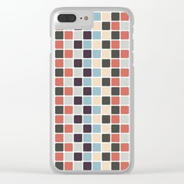Twisty Tiles Clear iPhone Case