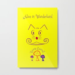 Alice in Wonderland - Chesire Cat Metal Print