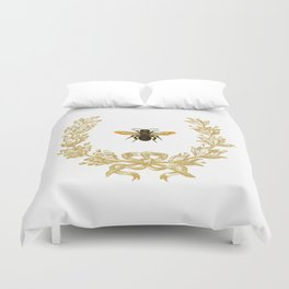 French Bee acorn wreath Duvet Cover