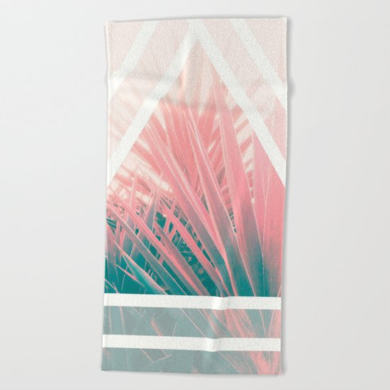 Pastel Palms into Triangle Beach Towel