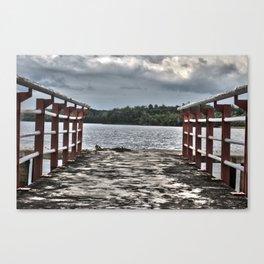 Pier in Sumatra (HDR photo) Canvas Print