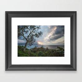 Sunset Over Hanalei Bay from St Regis Framed Art Print