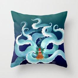 tentacock Throw Pillow