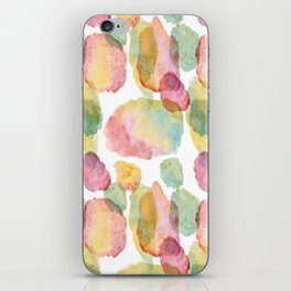 rainbow waterolor abrstract iPhone Skin