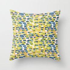 beach stripe Throw Pillow