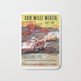 Mille Miglia, Race Poster, Vintage Poster, car poster Bath Mat
