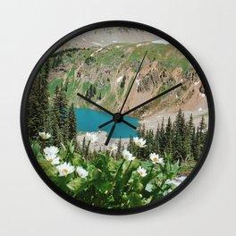 The Blue Lakes of Colorado Wall Clock