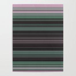 Mint Green Pink Stripes Poster