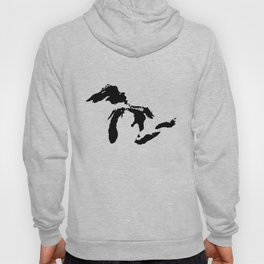 Map of the Great Lakes Hoody